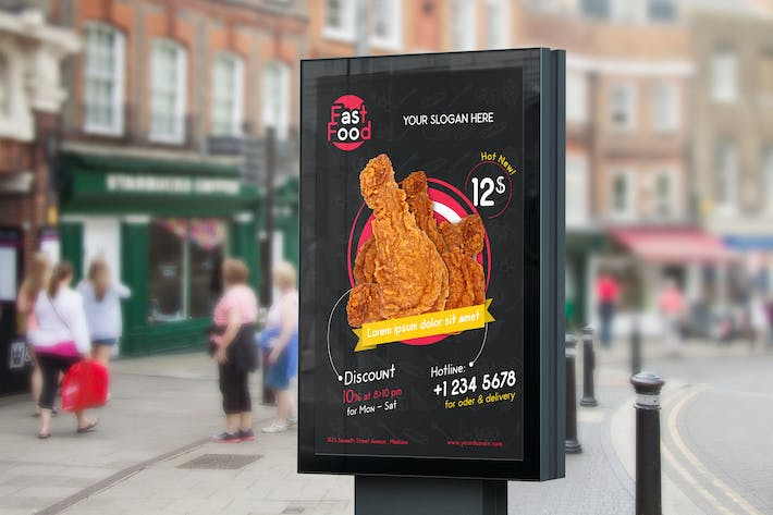 Thumbnail for Restaurant/ Fast Food - Flyer Template 02