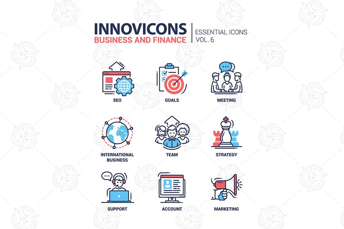 Thumbnail for Business, Finanzen moderne dünne Linie Design Icons