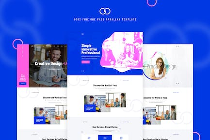 Yoox - Fine One Page Parallax PSD Template