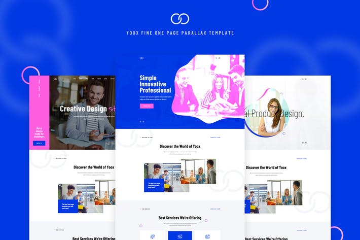 Thumbnail for Yoox - Fine One Page Parallax PSD Template