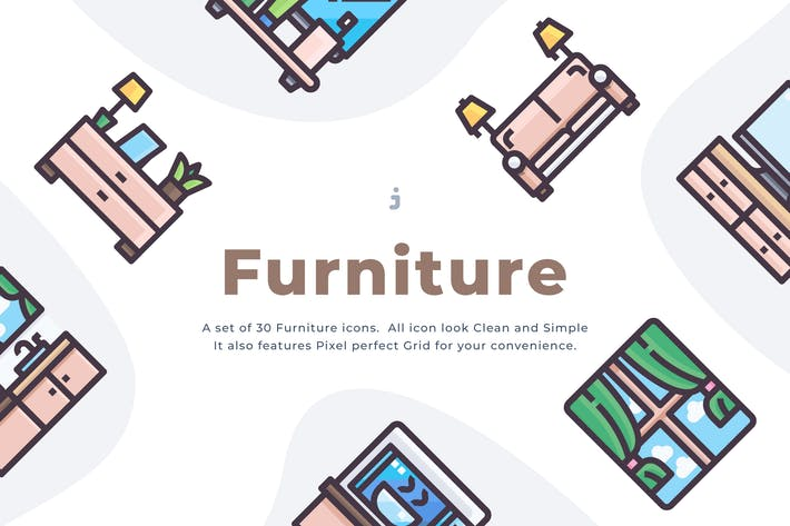 Thumbnail for 30 Furniture Icons
