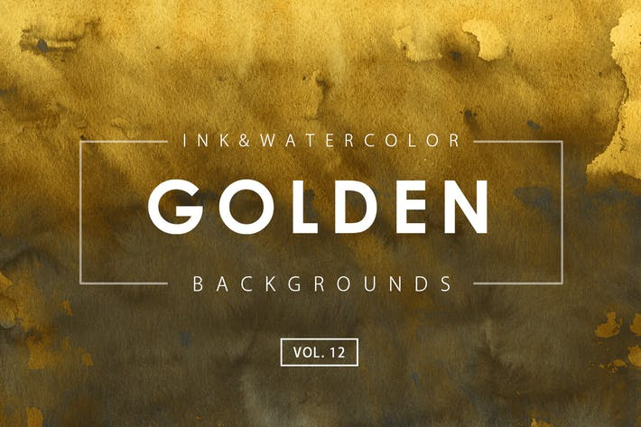 Thumbnail for Golden Ink Backgrounds 12