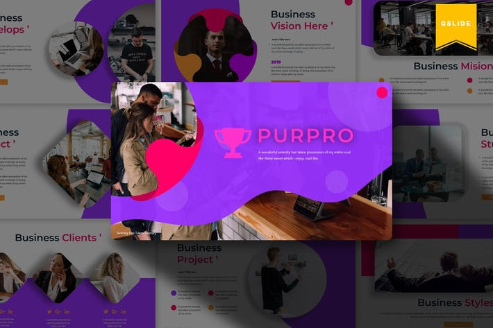 Thumbnail for Purpro | Google PräsentationsVorlage