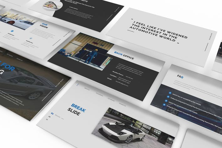 Thumbnail for Car Parts Store Google Slides Template