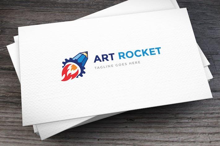 Cover Image For Art Rocket Logo Template