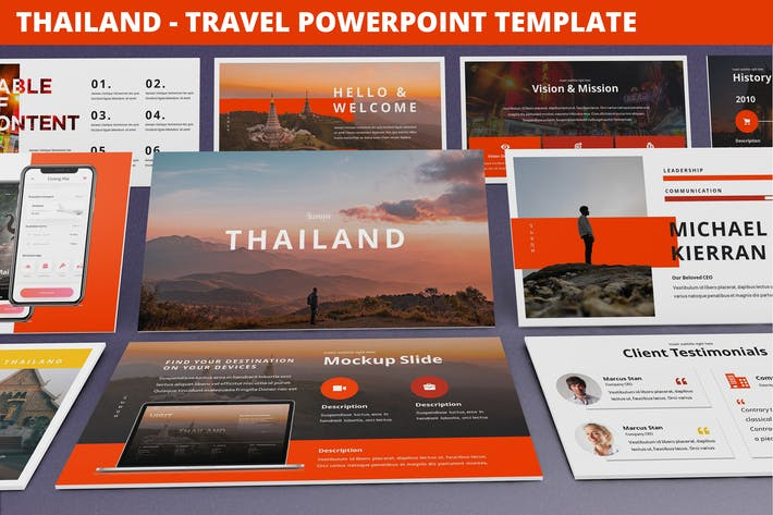 Thumbnail for Thailand - Travel Powerpoint Template