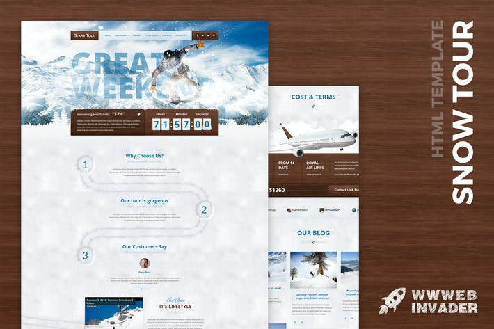 Thumbnail for Snow Tour - Responsive Winter Travel HTML Template