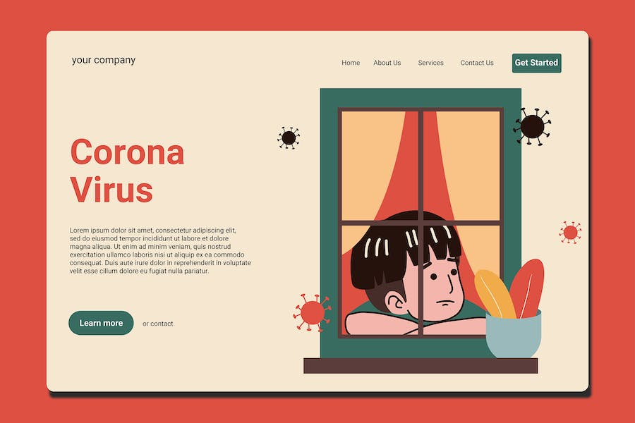 Stay At Home - Landing Page