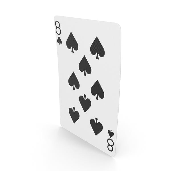 Playing Cards 8 of Spades