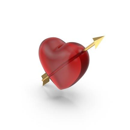 Herz mit goldenem Pfeil