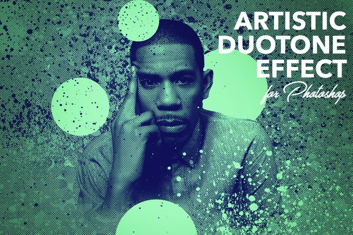 Thumbnail for Artistic Duotone Effect - Photoshop Action