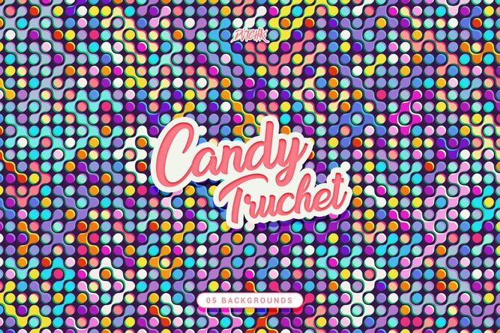 Thumbnail for Candy Truchet Backgrounds