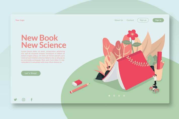 New Book New Science - Landing Page GR