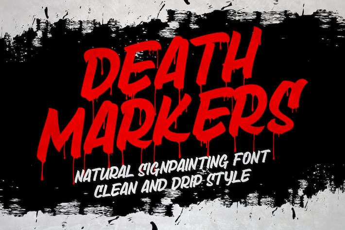 Thumbnail for Death Markers - Black Font