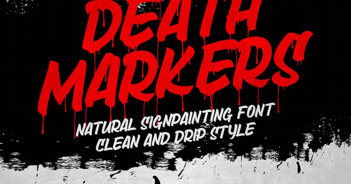 Download Death Markers - Black Font by deemakdaksinas