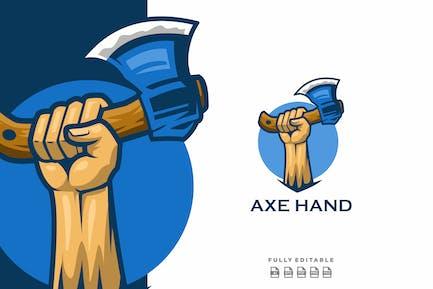 Axe Hand Mascot Logo
