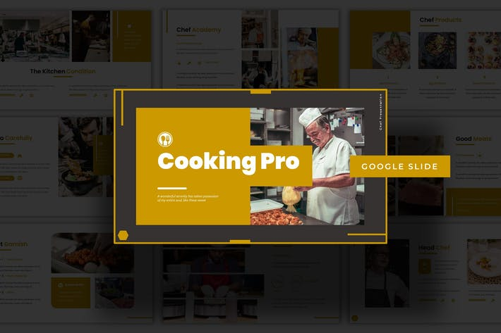 Кулинария Pro - Шаблон слайдов Google