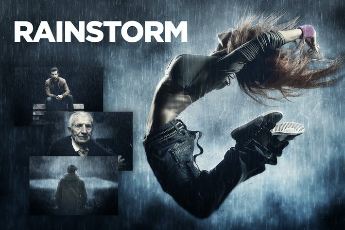 Thumbnail for Rainstorm Photoshop Action CS3+