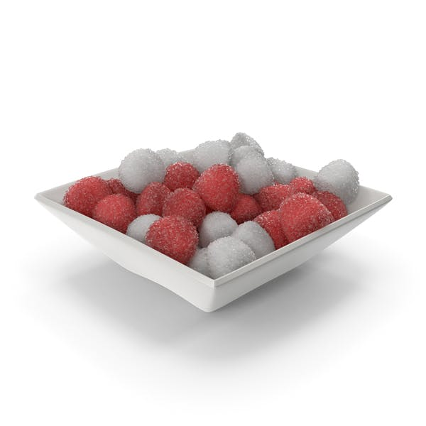 Thumbnail for Square Bowl with Sugar Coated Candy