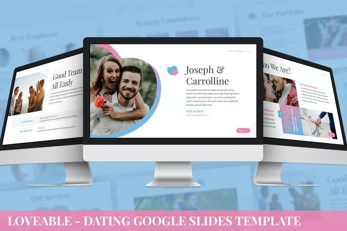 Cover Image For Loveable - Dating Google Slides Template