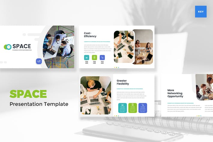 Thumbnail for Coworking & Office Space Keynote Template