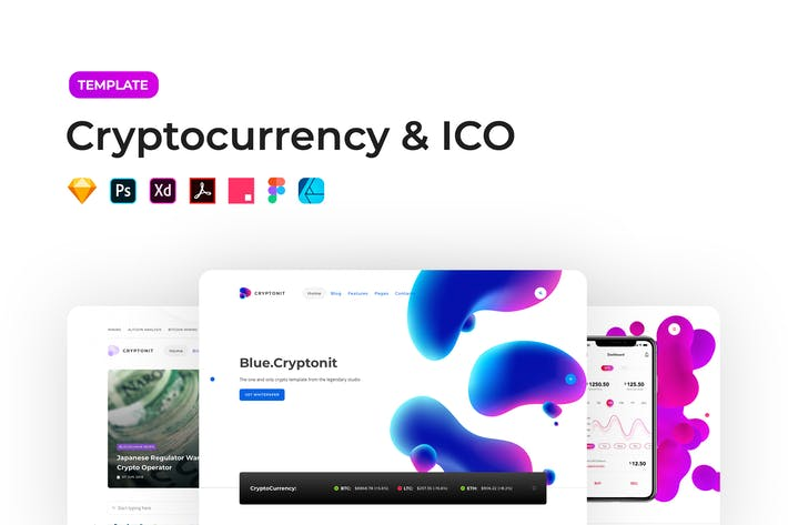 Thumbnail for Cryptocurrency & ICO Template