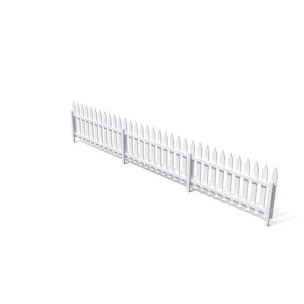 Wooden Fence Painted in White Color