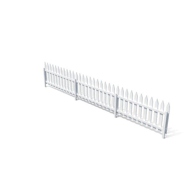 Деревянный забор окрашен в белый цвет
