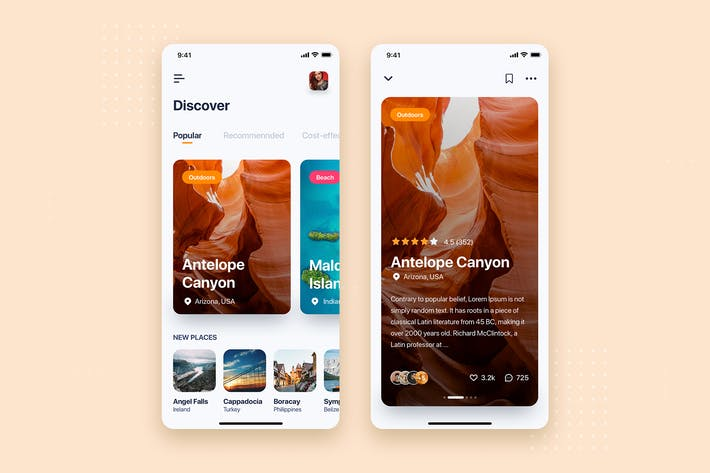 Thumbnail for Travel Mobile App UI Kit Template