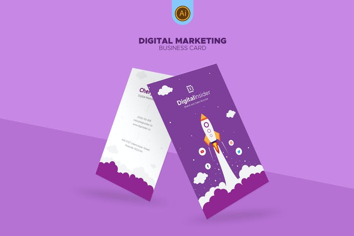 Digital Marketing Business Card 02 By Afahmy On Envato Elements