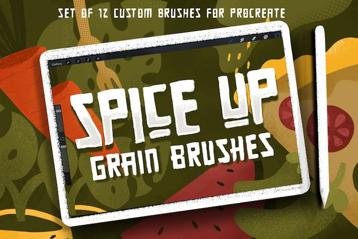 Thumbnail for SPICE UP GRAIN BRUSHES for Procreate