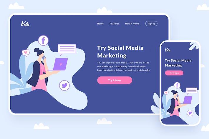 Thumbnail for Social Media Marketing Illustration