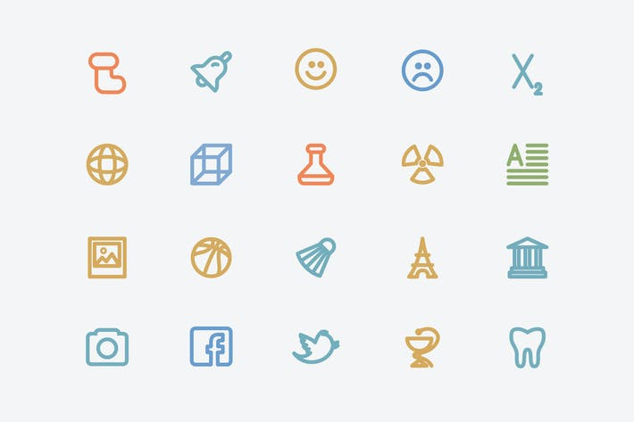 Thumbnail for Stroke Multipurpose Icons / 10 Different Themes