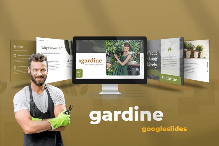 Thumbnail for Gardine - Home Gardening Google Slide Presentation