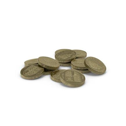 British Pound Coin Pile
