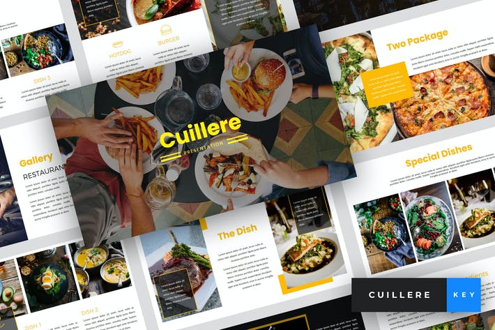 Thumbnail for Cuillere - Restaurant Keynote Template
