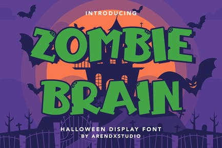 Zombie Brain - Halloween Display Font