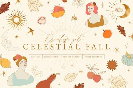 Celestial Fall Abstract Set