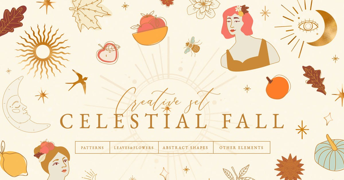 Download Celestial Fall Abstract Set by NassyArt