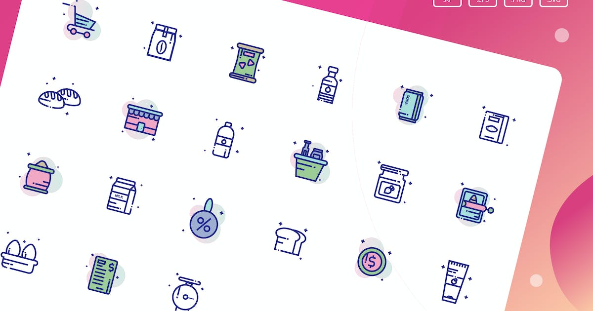 Download Grocery Icon Pack by inspirasign