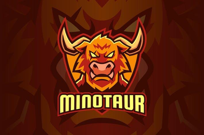 Strong Minotaur Bull Sport Logo Design