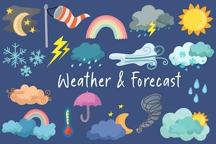 Forecast & Weather Hand Drawn