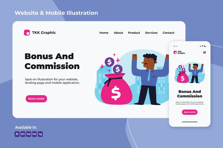 Thumbnail for Bonus and Comission investment web and mobile