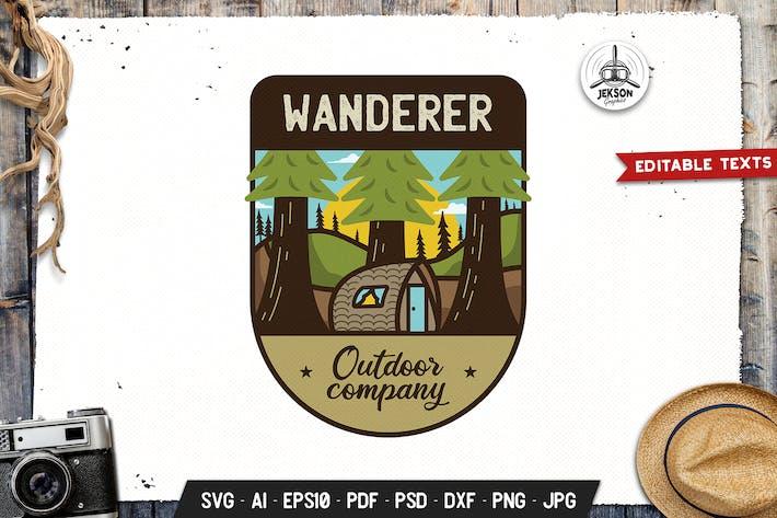 Thumbnail for Wanderer Emblem Modern Logo SVG. Travel Design