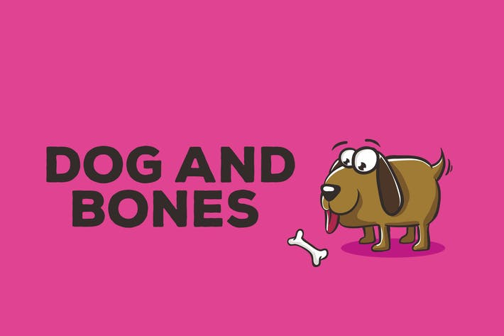 Thumbnail for Dog and Bones Illustration Artwork Vector
