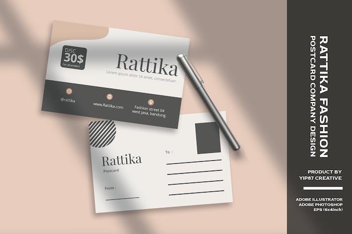 Thumbnail for Carte postale Fille Fashion Store