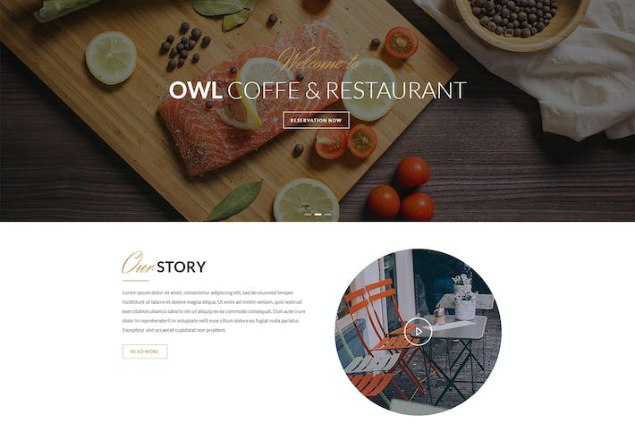 Thumbnail for OWL - Cafe & Restaurant Drupal 8 Template