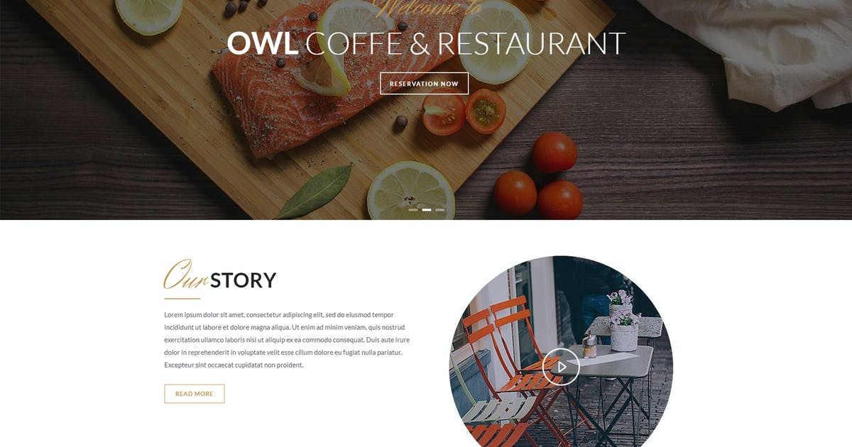 Download OWL - Cafe & Restaurant Drupal 8 Template by gavias