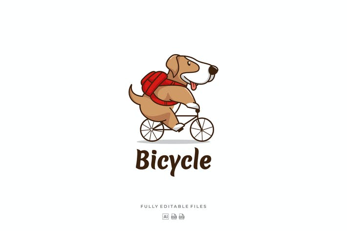 Thumbnail for Cute Dog Mascot Cartoon Logo