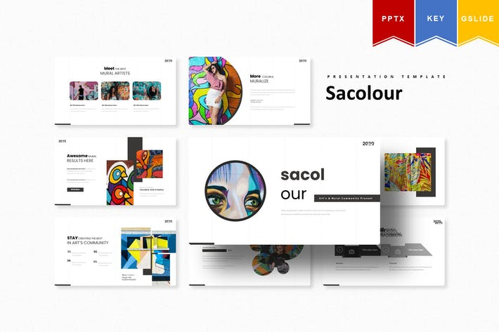 Thumbnail for Sacolour | Powerpoint, Keynote, Google Slides